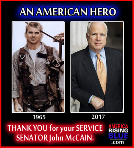 Senator John McCain was shot down on his 23rd mission over Saigon, North Vietnam. October 26, 2017