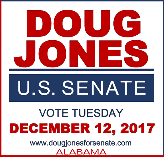 VoTE Doug Jones for Alabama Senator Dec 12, 2017.