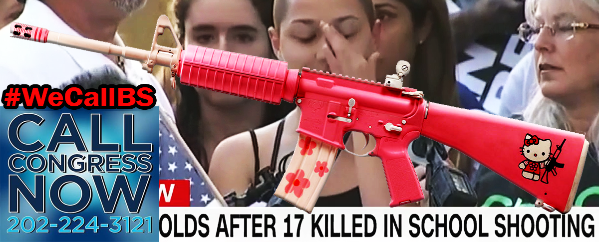Hello Kitty Pink AR-15 is the perfect accessory for loyal little NRA girls.